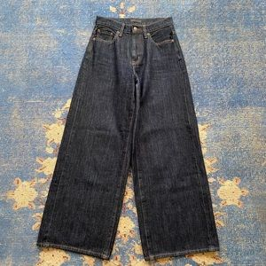 Uniqlo High Rise Wide Leg Jeans 24